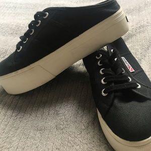Black Superga COTW Platform Sneaker